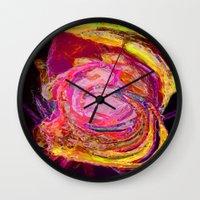 scream Wall Clocks featuring Scream by Lior Blum