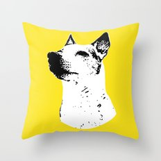 Potrait of a Jack Russell Terrior Throw Pillow