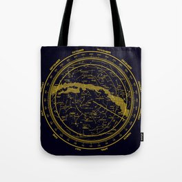 STARMAP 1 blue & gold Tote Bag