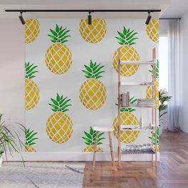 Beautiful Pineapple Pattern Wall Mural