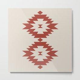 Southwestern Minimalism - Scarlet Red Metal Print