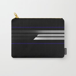 TEAM COLORS 5...Black,gray and white Carry-All Pouch