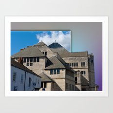 York Modern architecture out of bounds Art Print