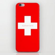Switzerland Flag, Swiss Logo, Suisse, Schweiz, Suissa, White Cross. iPhone & iPod Skin