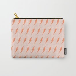 Lightning bolt pattern pink and orange Carry-All Pouch