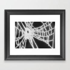 Surrealistic Spider Web Framed Art Print