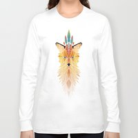 spirit Long Sleeve T-shirts featuring fox spirit  by Manoou