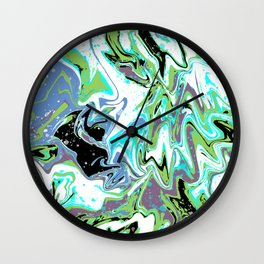 Fluid Abstract 03 Wall Clock
