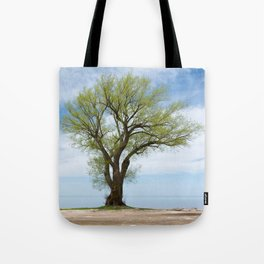 tree on the water Tote Bag