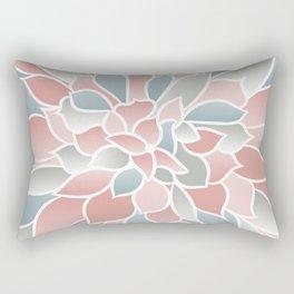 Festive, Floral Prints, Pink, Aqua, Gray Rectangular Pillow