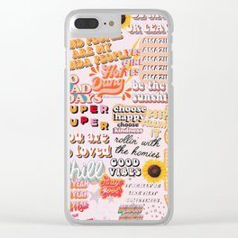 Orange Mood Clear iPhone Case