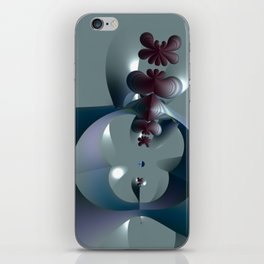Life sprouting in the silence of an abstract fantasy iPhone Skin