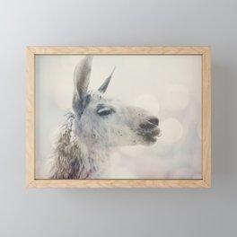 Alpaca in Machu Picchu Framed Mini Art Print