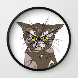 Maine Coon Kitty Wall Clock