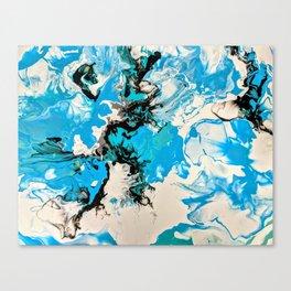 Water Unfolding Canvas Print