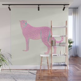 PINK STAR CHEETAH Wall Mural