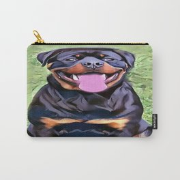 Happy Rottweiler Carry-All Pouch