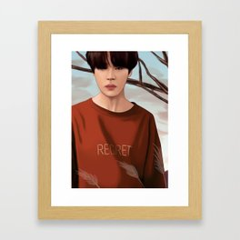 BTS JIMIN LOVE YOURSELF FANART Framed Art Print
