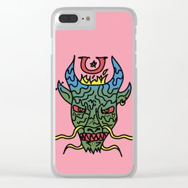 Trippy Chinese Dragon Clear iPhone Case