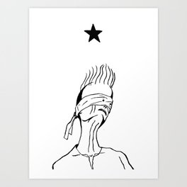 Lazarus 2 - Bowie Blackstar tribute Art Print
