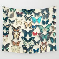cassia beck Wall Tapestries featuring Wings by Cassia Beck