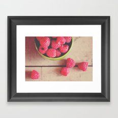 there is something in the red of a raspberry ...  Framed Art Print