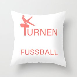If gymnastics were easy, it would be called football Throw Pillow