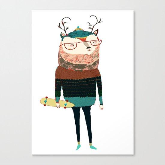 Deer, deer art, deer print, deer illustration, Canvas Print