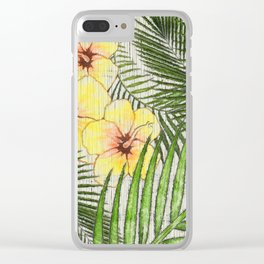 Tropical Getaway Clear iPhone Case
