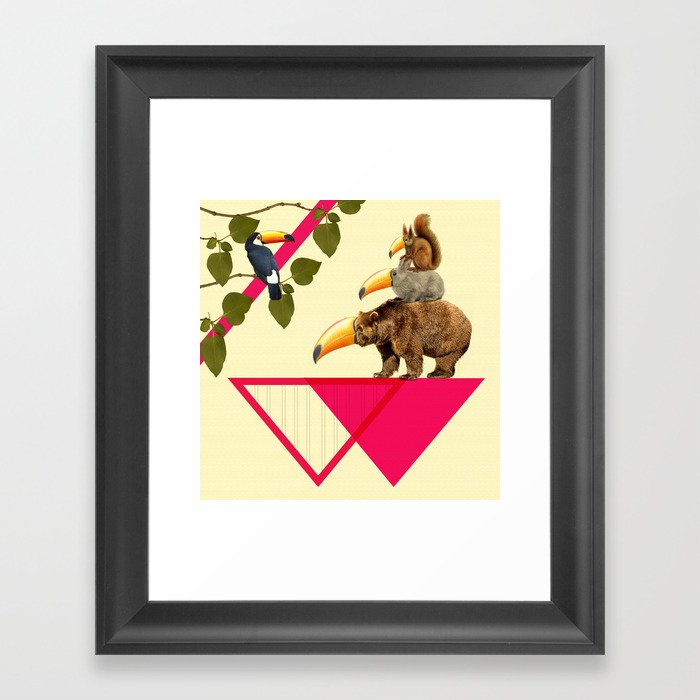 everybody would love to be a toucan  Framed Art Print