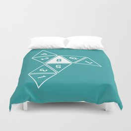 Teal Unrolled D8 Duvet Cover