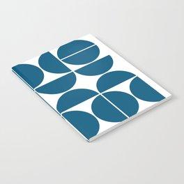 Mid Century Modern Geometric 04 Blue Notebook