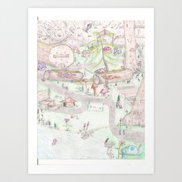Gnome Village 1 Art Print