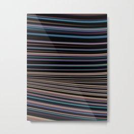 Softly Toned Stripes Metal Print