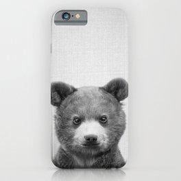 Baby Bear - Black & White iPhone Case