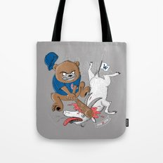 The Goat is Dead! (grey version) Tote Bag