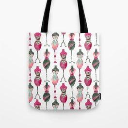Vintage Dress Forms – Pink & Black Palette Tote Bag