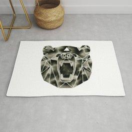 Fractured Geometric Bear Rug