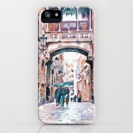 Carrer del Bisbe - Barcelona iPhone Case
