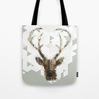 architect Tote Bags featuring Deer Architect by Angelo Cerantola
