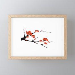 Asian style painting - Plum Blossom Framed Mini Art Print