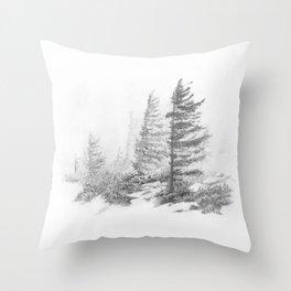 Bear Rocks in Fog Throw Pillow