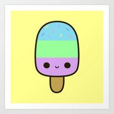 Cute yummy ice lolly Art Print