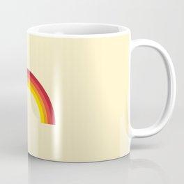 Vintage 70's Rainbow Coffee Mug