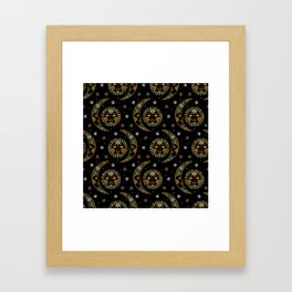Celestial pattern in tribal style and ethnic motif Framed Art Print