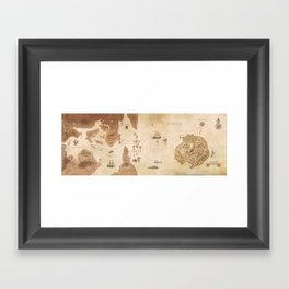 The Antlered Ship - Endpapers Framed Art Print