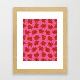 Christmas flower pattern Framed Art Print