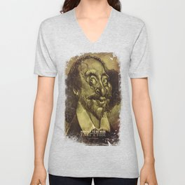 William Shakespeare-wise and fool Unisex V-Neck