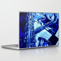 lsd Laptop & iPad Skins featuring octopus LSD by MichellicA