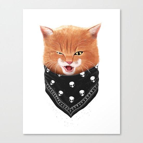 Cheeky cat Canvas Print